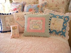 repurposed vintage linens and lace | Repurposed Vintage Linens | Lace ~ Linens ~ Hankies!