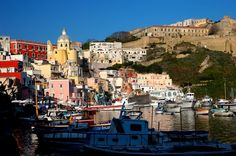Discover the best photos of Procida Island in Procida with the help of other travelers on minube Far Away, The Help, Cool Photos, Island, Places, Travel, World, Beautiful Places, Italia
