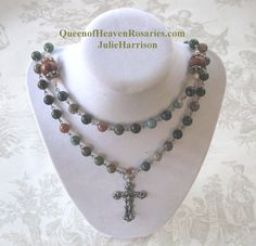 Jasper Rosary NecklaceFree Ship by julieharrison on Etsy, $130.00