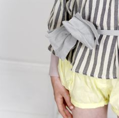 #belt #bow #blouse #stripes #shorts #yellow #girl #children #kids #fashion #clothes