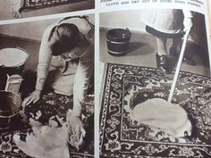 Carpet cleaning 1950's style! How To Clean Carpet, Cleaning, Style, Swag, Home Cleaning, Outfits