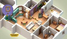 """Apartamentos de """"Friends"""""""