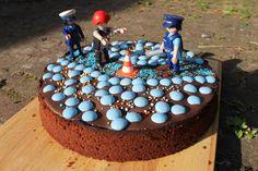 Kindergeburtstag Polizei Polizeigeburtstag Kuchen - viele weitere Ideen auf Stadtschwalben.com
