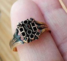 Antique American Aesthetic Garnet Rose Gold Ring TLCMsgStonesUntestedGold 1.5Gr #NotSigned #Engagement
