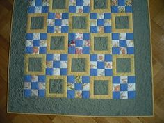 Apples an pears, baby quilt 106x106cm