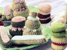 Crocheted patisserie by couleurs bonbons