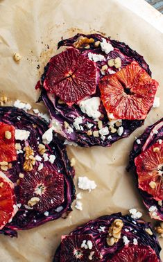 """intensefoodcravings: """" Roasted Red Cabbage with Sweet & Spicy Blood Orange + a Walnut Oil Vinaigrette Roasted Red Cabbage, Red Cabbage Recipes, Orange Recipes, Vegetable Dishes, Vegetable Recipes, Orange Sanguine, Blood Orange, Sweet And Spicy, Food Cravings"""