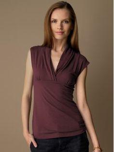 16ee8d247b4a0 BananaRepublic com women Jersey shawl neck top work tops - Stylehive Empire  Waist Tops