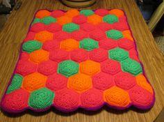 Crochet Hexapuff Quilt $2 per whole puff