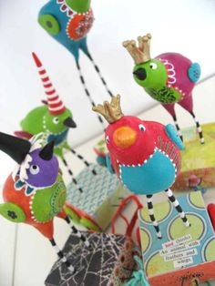 Great craft source- love all the great ideas and altered art ideas!!!    Whimsical and quirky #birds