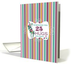 23 Hugs - Happy Birthday card - ooh, so pretty! Love the colors on this floral #birthdaycard for 23 year old.