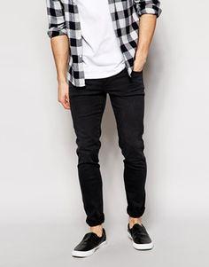 Dr Denim - Snap - Jean skinny - Noir défraîchi Jeans Homme, Coton Noir, db5352f73727