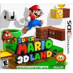 http://pinterest.com/pinnedgames/3ds-games/ Super Mario 3D Land: http://amzn.to/H5qjHS Past Mario games have let the blue-suspendered hero roam around fully rendered 3D landscapes. Now, for the first time, players can see true depth of their environment without the need for special glasses. Super Mario is a 3D evolution of classic Mario platforming featuring new level designs and challenges.