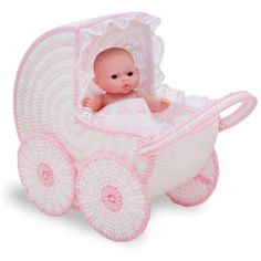 Doll Buggy Plastic Canvas Kit - Plastic Canvas - Crafts