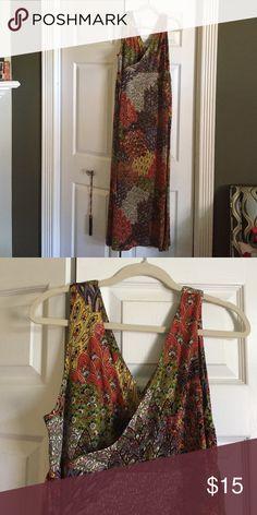 Travelsmith long dress. ~~I will be away from 7/16-7/30~~Long,easy dress in a great print. Travelsmith Dresses Maxi