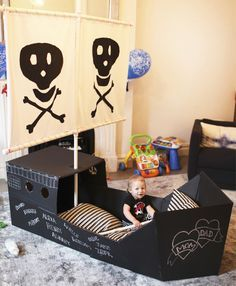 Pirate themed birthday party ideas | 100 Layer Cakelet #birthdayparty #pirate #kidsparty