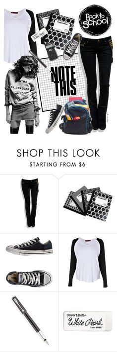 """""""BTS"""" by ultracake ❤ liked on Polyvore featuring Skylton, Converse, Modo, Parker, Paper Mate, BackToSchool, fashiontrend and ultracake"""