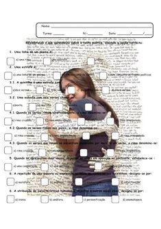 Texto Poético- Ficha de trabalho