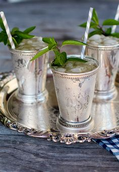 A tray of Mint Juleps on the front porch on a hot summer afternoon is truly a Southern way to end the day.