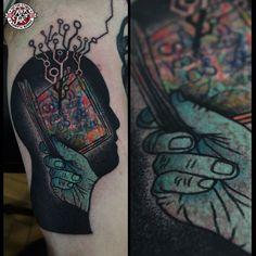 """309 Likes, 8 Comments - Łukasz Sokołowski (@looqsok) on Instagram: """"#rocknink #rockninktattooandpiercing #tattoo #customtattoo #krakow #pijarska9 #lukaszsokolowski"""""""