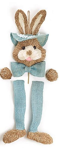 Easter Bunny Wreath Kit - BLUE Bunny Kit
