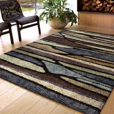 Orian Rugs Blue Meadow Multi 5 ft. 3 in. x 7 ft. 6 in. Indoor Area Rug