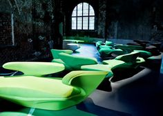 Zephyr sofa / By Zaha Hadid