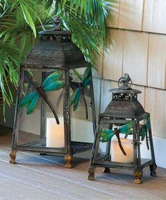 Love this Dragonfly Lantern Set by Evergreen on #zulily! #zulilyfinds