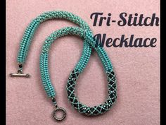 Tubular beaded necklace tutorial using 3 beadweaving stitches. Necklace Tutorial, Diy Necklace, Collar Necklace, Beads Online, Cultured Pearl Necklace, Beaded Jewelry Patterns, Beads And Wire, Jewelry Making, Making Bracelets