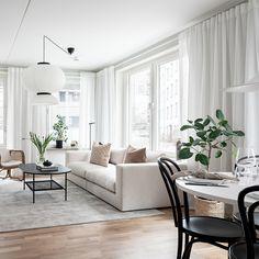 Modern Apartment Decor, Apartment Interior, Home Interior, Apartment Living, Small Room Bedroom, Small Living Rooms, Living Room Designs, Family Room Design, Living Room Inspiration