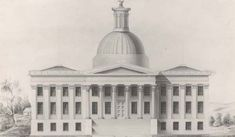 Design of Alabama State Capitol building When Alabama's Capital was moved to Montgomery. the building was designed by Architect Stephen Decatur Button of Philadelphia.The contractors were Bird F. Robinson and R. N. R. Bardwell. It wastwo stories over a raised ... Read More