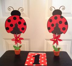 Ladybug 1st birthday party decor and candy bags #TheMastersTouchDecoration&Design