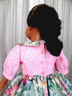 1812 - 1815 Afternoon Stroll Doll Dress and Doll Pantaloons - 1092 Fits American Girl, Our Generation, Gotz, Springfield, Engel, Madame Alexander, Starpath, Little House on the Prairie and many other 18 inch soft-bodied dolls. During the early 19th century, women's fashions