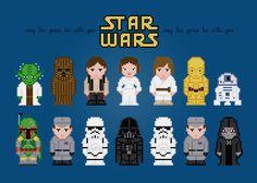 Star Wars Movie Characters Cross Stitch par AmazingCrossStitch