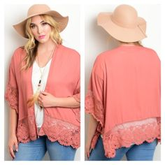 ❤️❤️NWT❤️❤️ Mauve Plus Size Cardigan. So pretty and versatile. A must have!!❤️❤️❤️ Tops