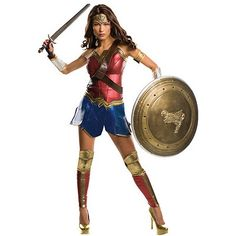 Adult Wonder Woman Costume Theatrical - Dawn Of Justice