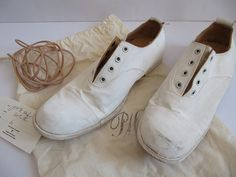White shoes | Flat lace-up shoes | Paul Harnden