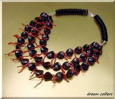 Sardegna Astkoralle  & Onyx - Edelsteinkette von Dream-Colliers auf DaWanda.com