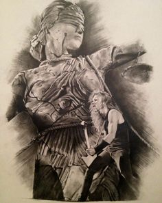 Doris & James Hetfield awesome drawing