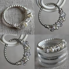 birthstone ring/ I think making rings is the most difficult of jewelry making. You have to get it just right. 1/2 inch too big is huge when making rings; on a bracelet or necklace, not so bad.