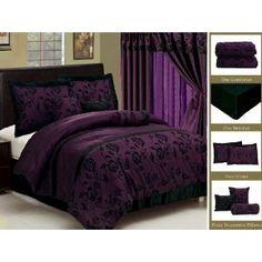Purple chairs for bedroom furniture sets satin comforter set bed new royal black bedding flock uk . purple chairs for bedroom Purple Bedspread, Purple Comforter, Purple Bedding Sets, Black Bedding, Luxury Bedding Sets, Comforter Sets, King Comforter, Bedroom Furniture Sets, Bedroom Sets