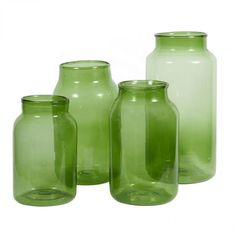 Recycled Antique Glass Mason - Green $62-$76 #antique #recycled