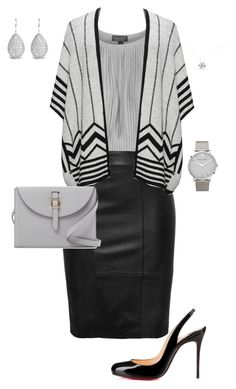 """""""Untitled #518"""" by angela-vitello on Polyvore featuring Topshop, Christian Louboutin, Larsson & Jennings, Tiffany & Co., Open End and Meli Melo"""