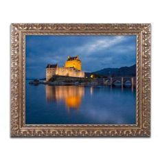 Trademark Fine Art Eilean Donan Castle Canvas Art by Michael Blanchette Photography Gold Ornate Frame, Size: 11 x 14, Assorted