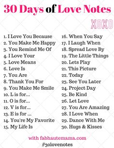 Fun ideas and prompts including 30 days of love notes for February, Valentine's Day and any day. Love Notes For Husband, Love Letters To Your Boyfriend, Sweet Love Notes, Boyfriend Notes, Cute Boyfriend Gifts, Valentines Gifts For Boyfriend, Boyfriend Ideas, Cute Date Ideas, Gift Ideas