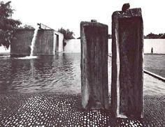 """'Fuente de Los Amantes', Los Clubes, Atizapán de Zaragoza, México 1964   Arq. Luis Barragán -    """"Fountain of Lovers"""" Los Clubes, State of Mexico, Mexico 1964"""