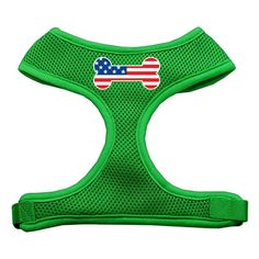 Mirage Pet Products Bone Flag USA Screen Print Soft Mesh Dog Harnesses, Medium, Emerald Green -- Find out more about the great product at the image link. (This is an affiliate link and I receive a commission for the sales)