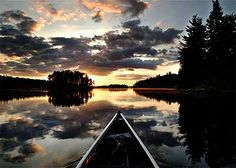 Quetico Park, Ontario  This is where my husband is right now. I bet it is more beautiful in person!
