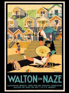 Walton-on-Naze-Essex-England-Great-Britain-Vintage-Travel-Advertisement-Poster