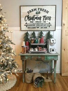 Set a hot cocoa bar for the holidays with these simple tips! : Set a hot cocoa bar for the holidays with these simple tips! Farmhouse Christmas Decor, Rustic Christmas, Christmas Home, Christmas Crafts, Christmas Decorations, Christmas Signs, Christmas Ideas, Tartan Christmas, Christmas Thoughts